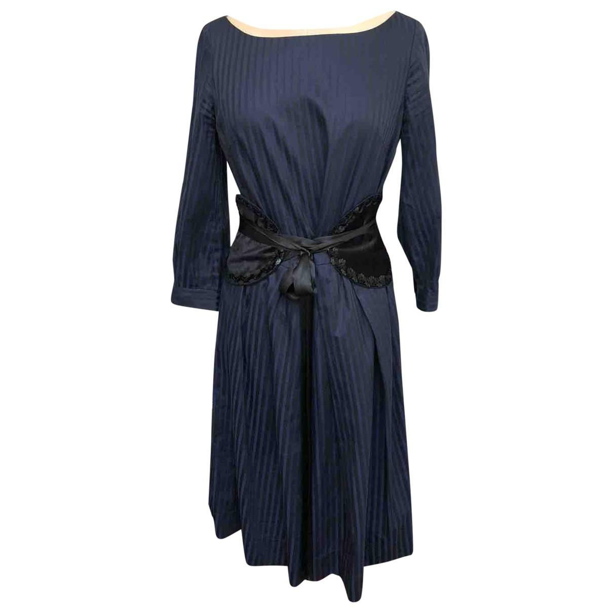 Baum Und Pferdgarten \N Blue Cotton dress for Women XS International