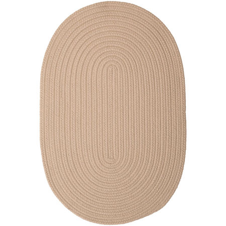 Colonial Mills Nantucket Reversible Braided Indoor/Outdoor Oval Rug, One Size , White