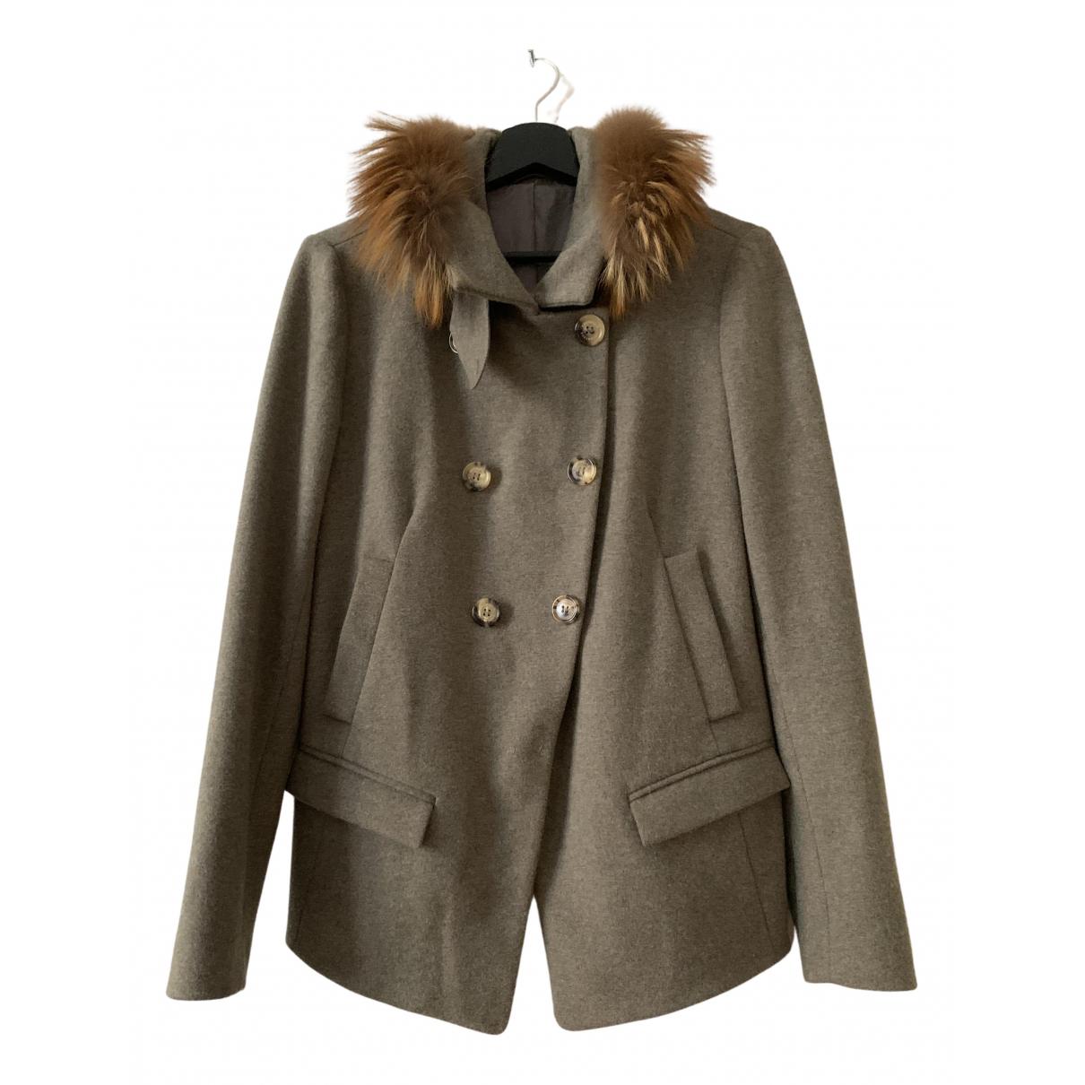 Brunello Cucinelli N Grey Fur jacket for Women L International