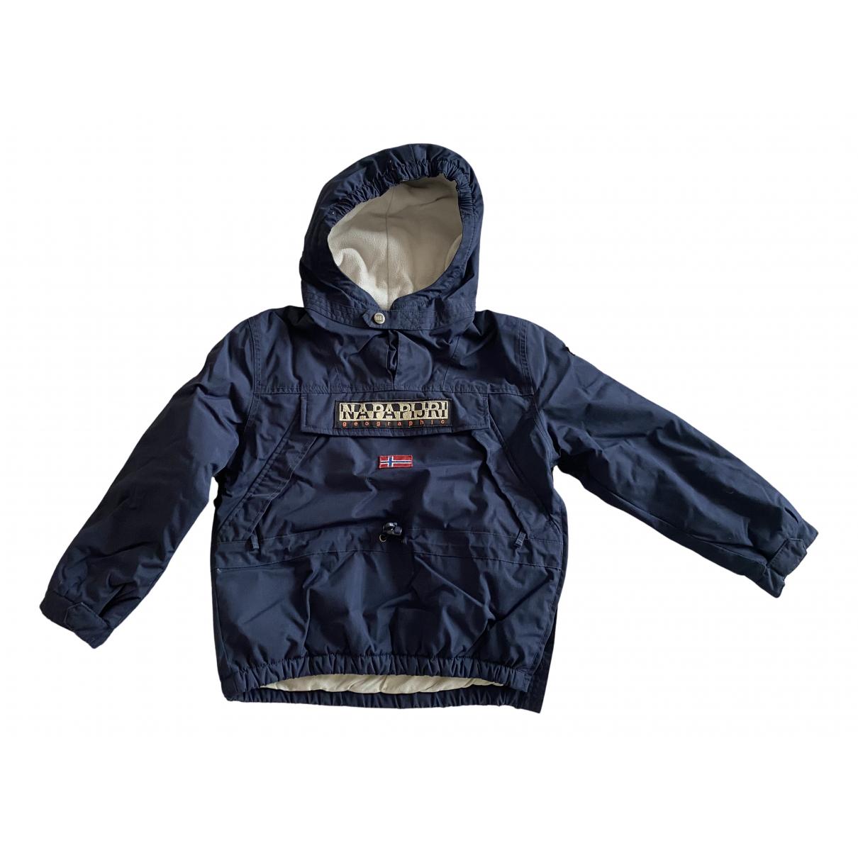 Napapijri - Blousons.Manteaux   pour enfant en coton - marine