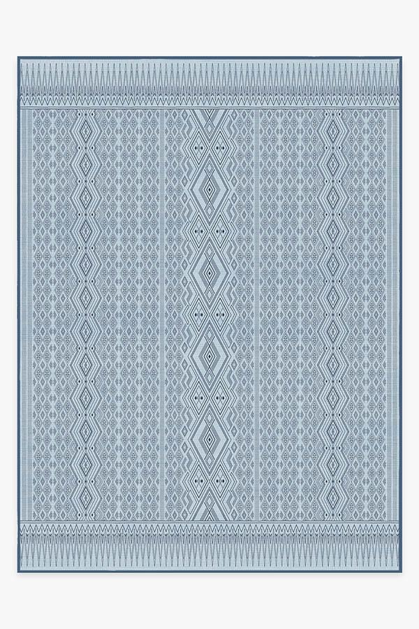 Washable Rug Cover | Herdanza Blue Overdye Rug | Stain-Resistant | Ruggable | 9'x12'