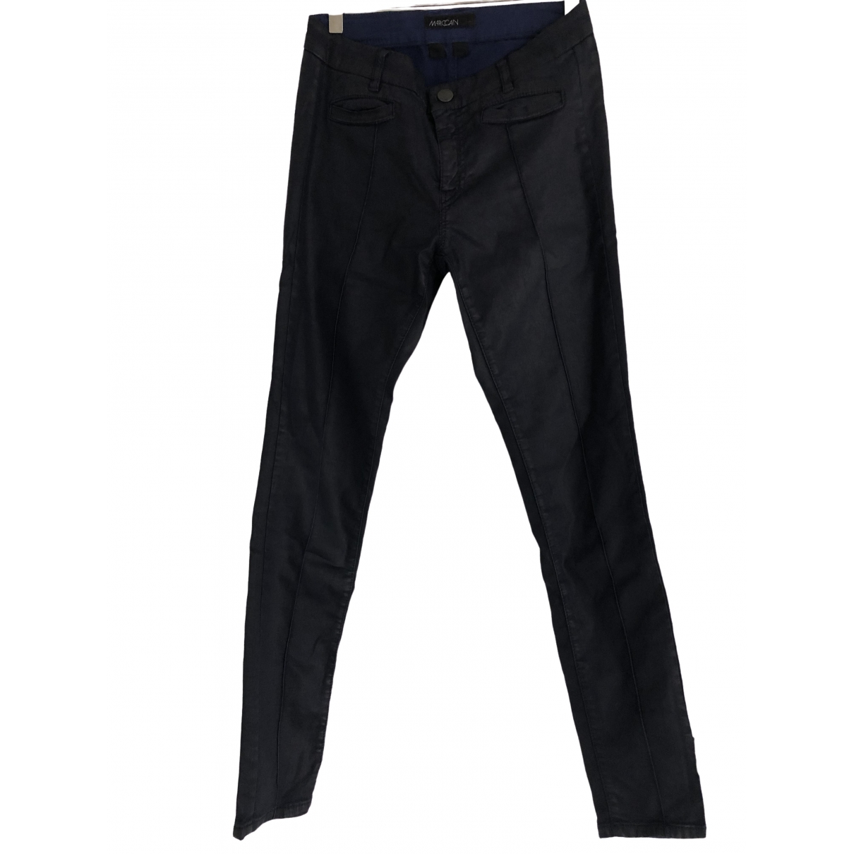 Marc Cain \N Navy Cotton Trousers for Women 3 0-5