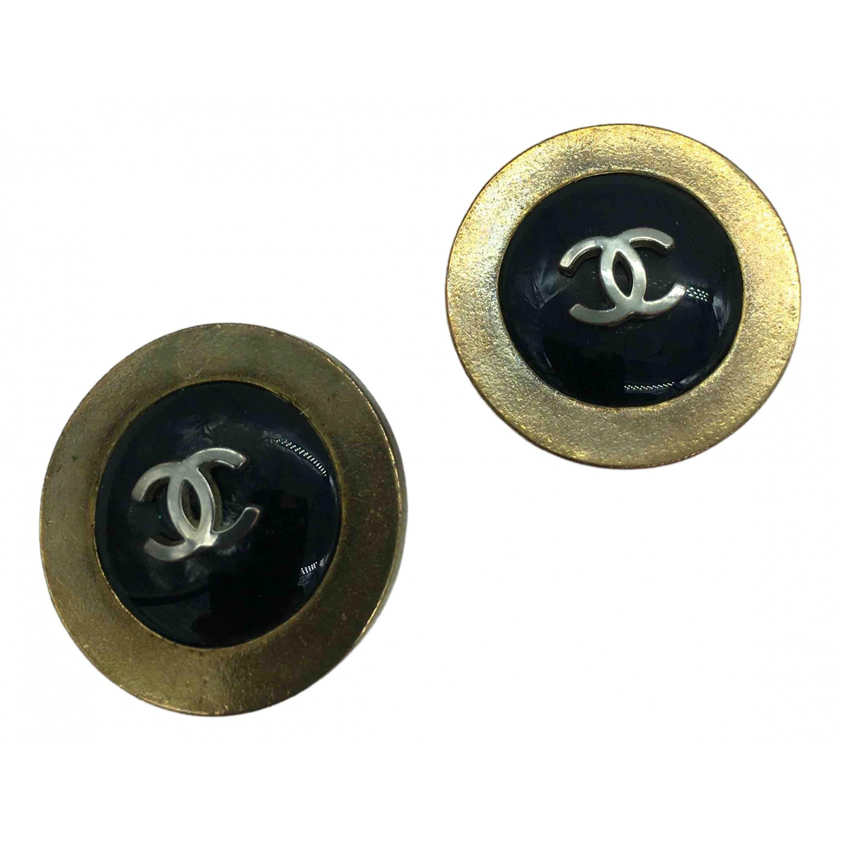 Chanel \N OhrRing in  Schwarz Metall
