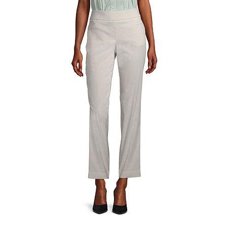 Liz Claiborne Millennium Pull On Pant - Tall, 10 Tall , Beige