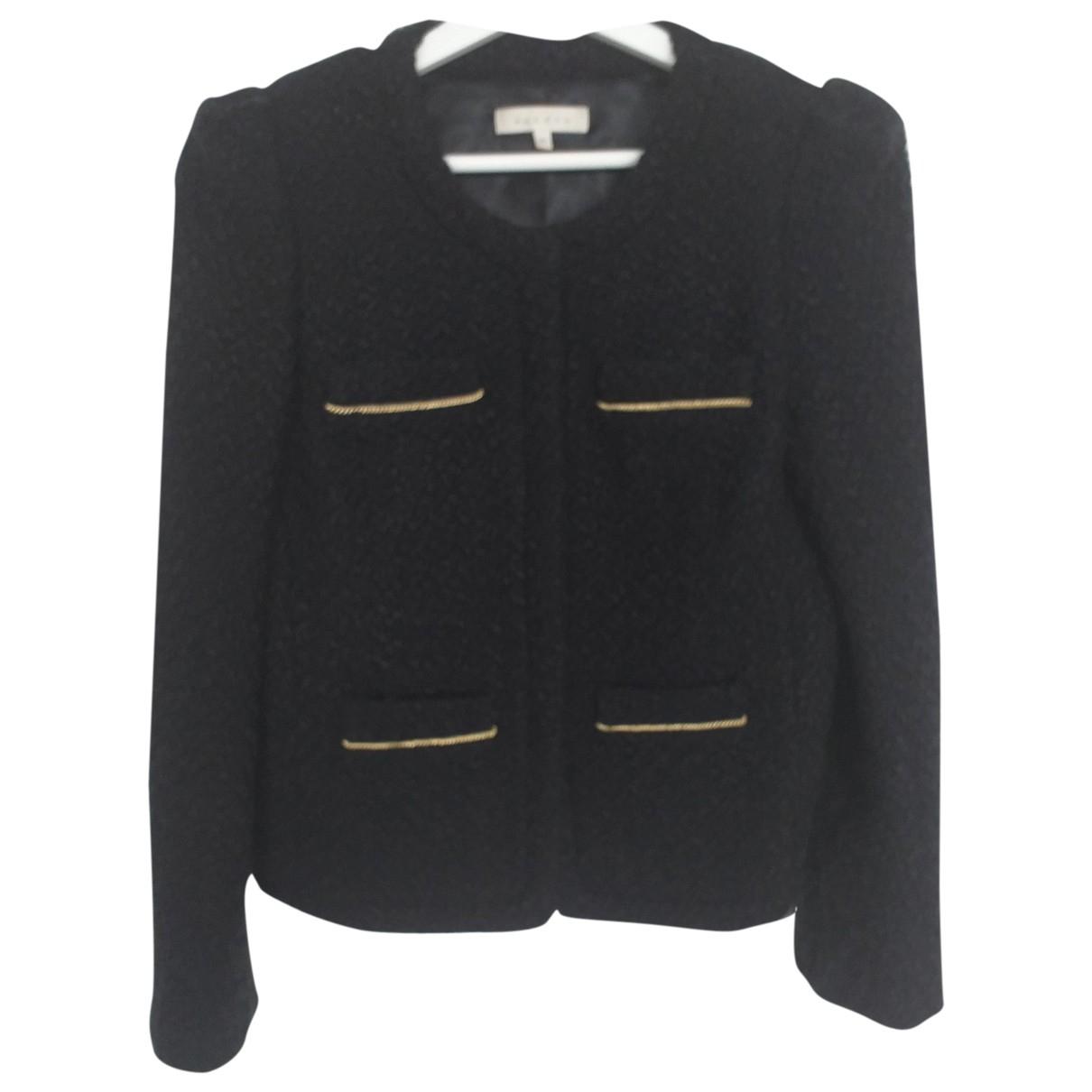 Sandro - Veste   pour femme en laine - noir