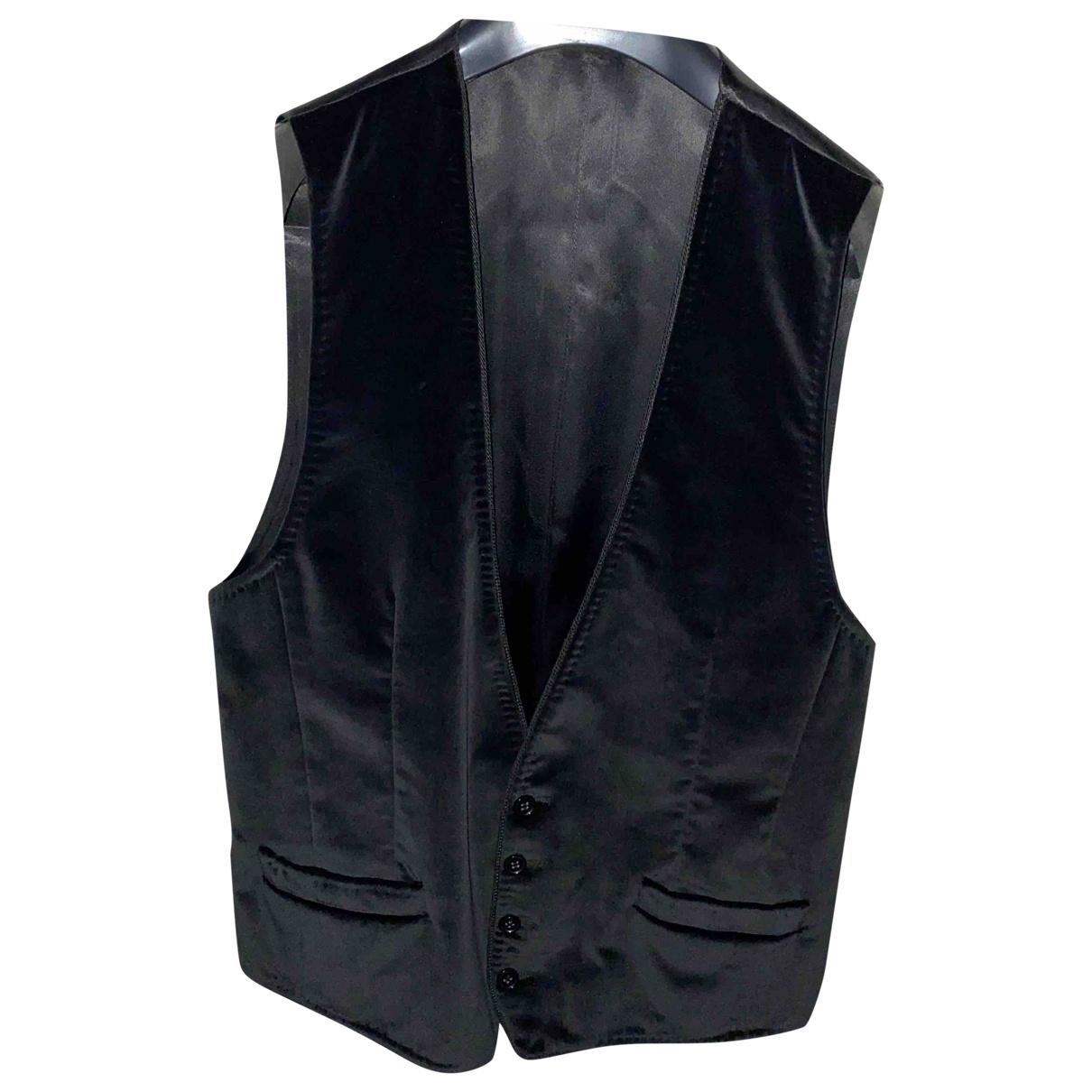 Dolce & Gabbana - Vestes.Blousons   pour homme en velours - noir