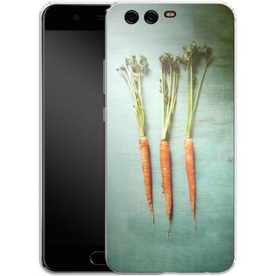Huawei P10 Silikon Handyhuelle - Three Carrots von Joy StClaire