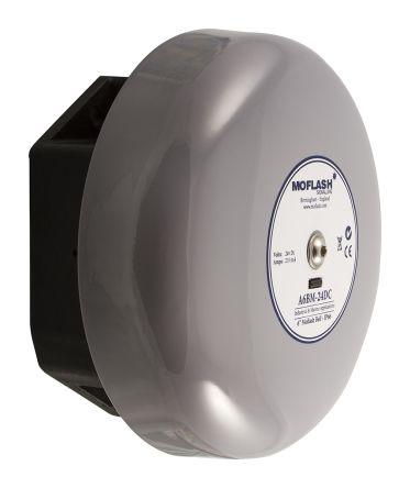 Moflash Grey Solenoid Bell, 106dB at 1 Metre, 24 V ac
