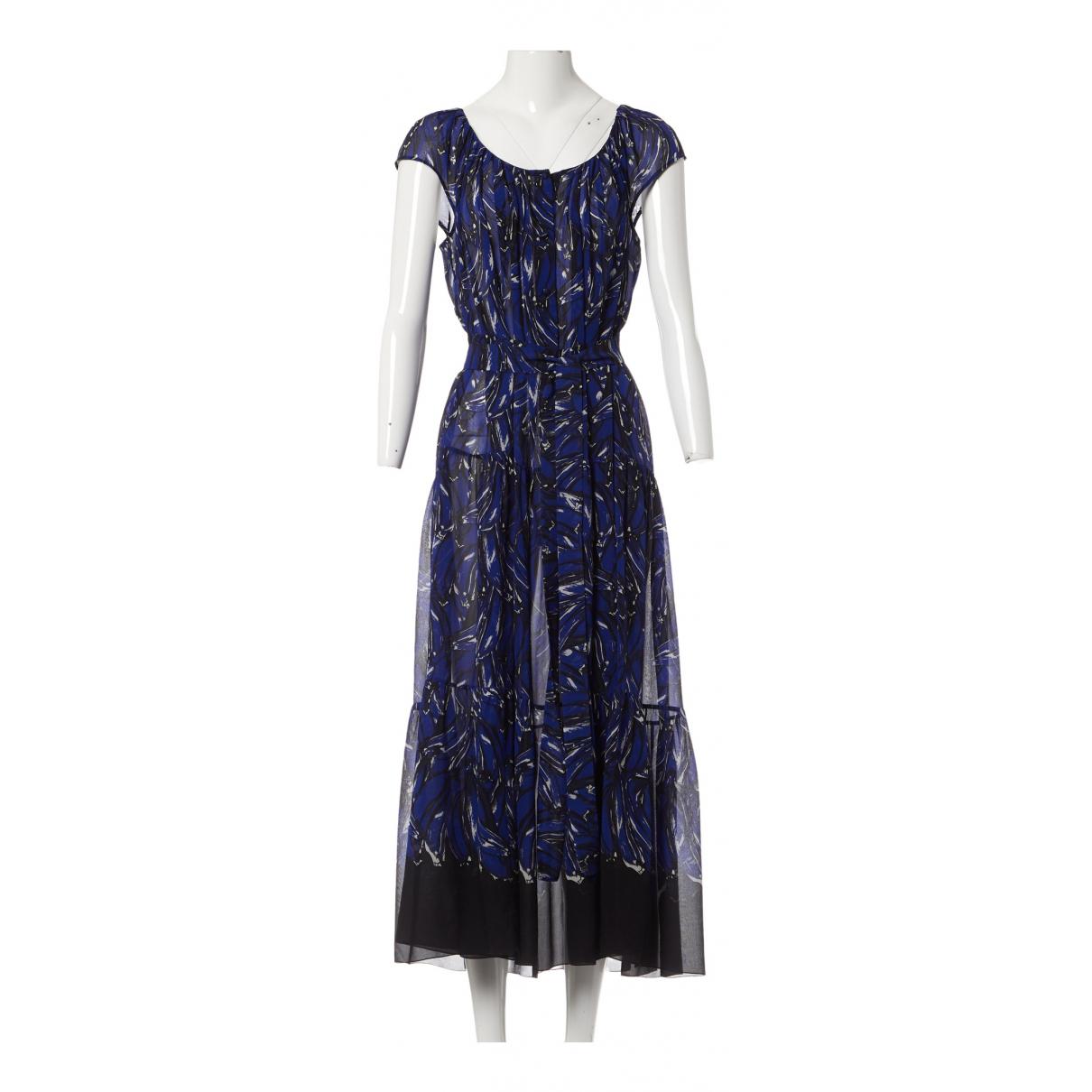 Prada - Robe   pour femme en soie - bleu