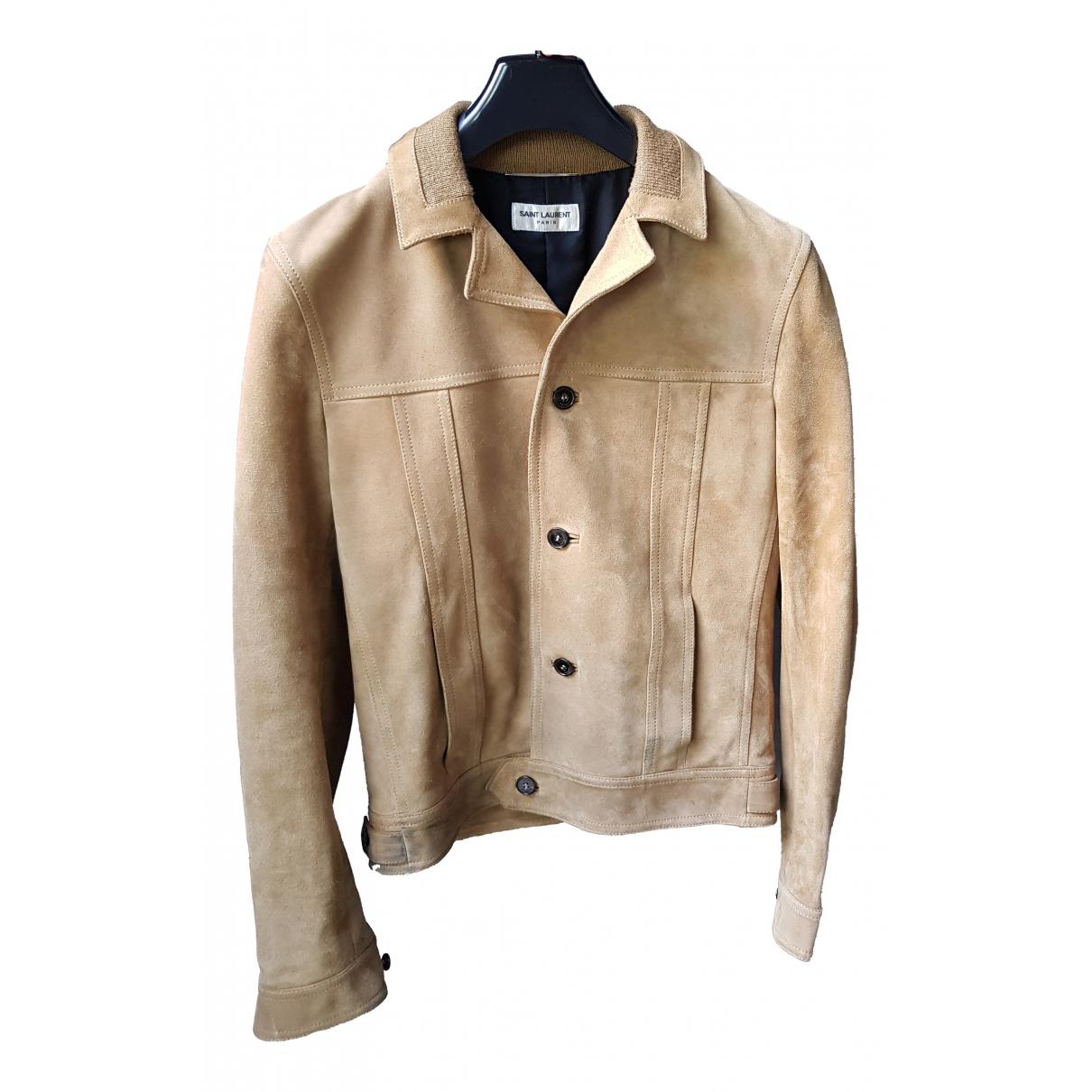Yves Saint Laurent N Camel Suede jacket  for Men 44 IT