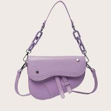 Minimalist Flap Saddle Bag