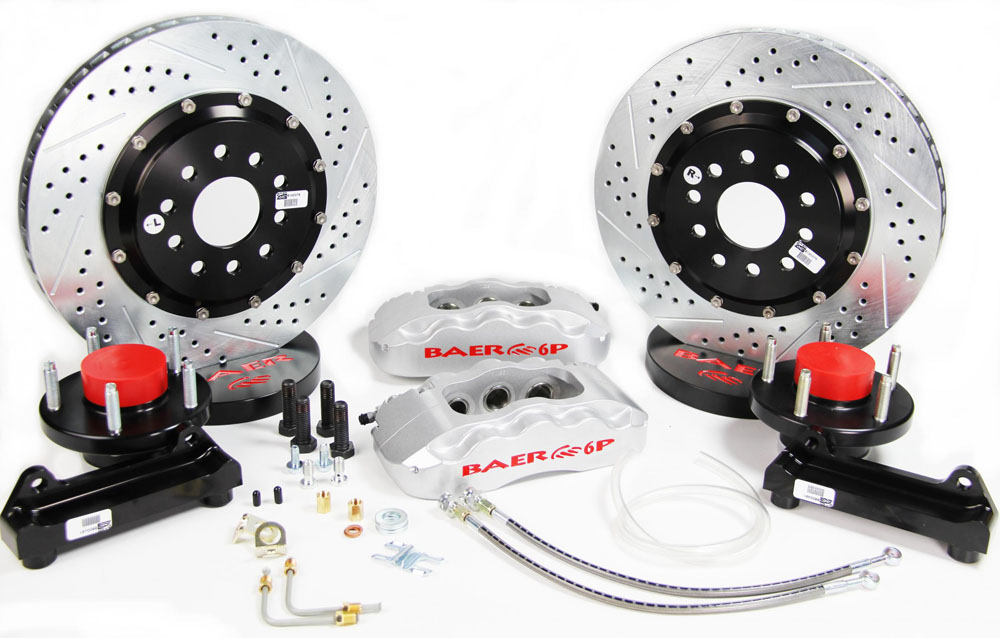 Baer Brakes Brake System 14 Inch Front Pro+ Silver Alston Chassisworks
