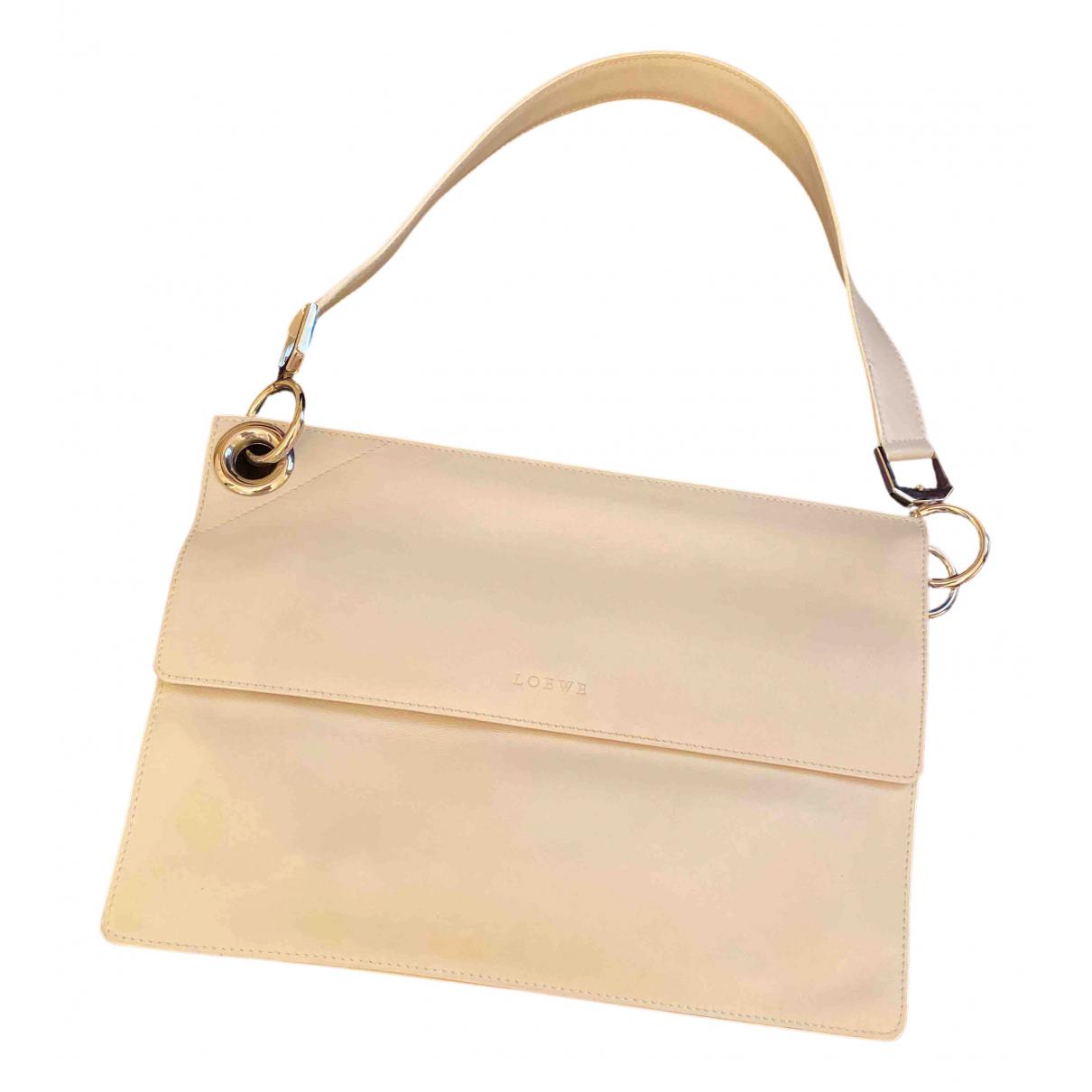 Loewe - Sac a main   pour femme en cuir - blanc