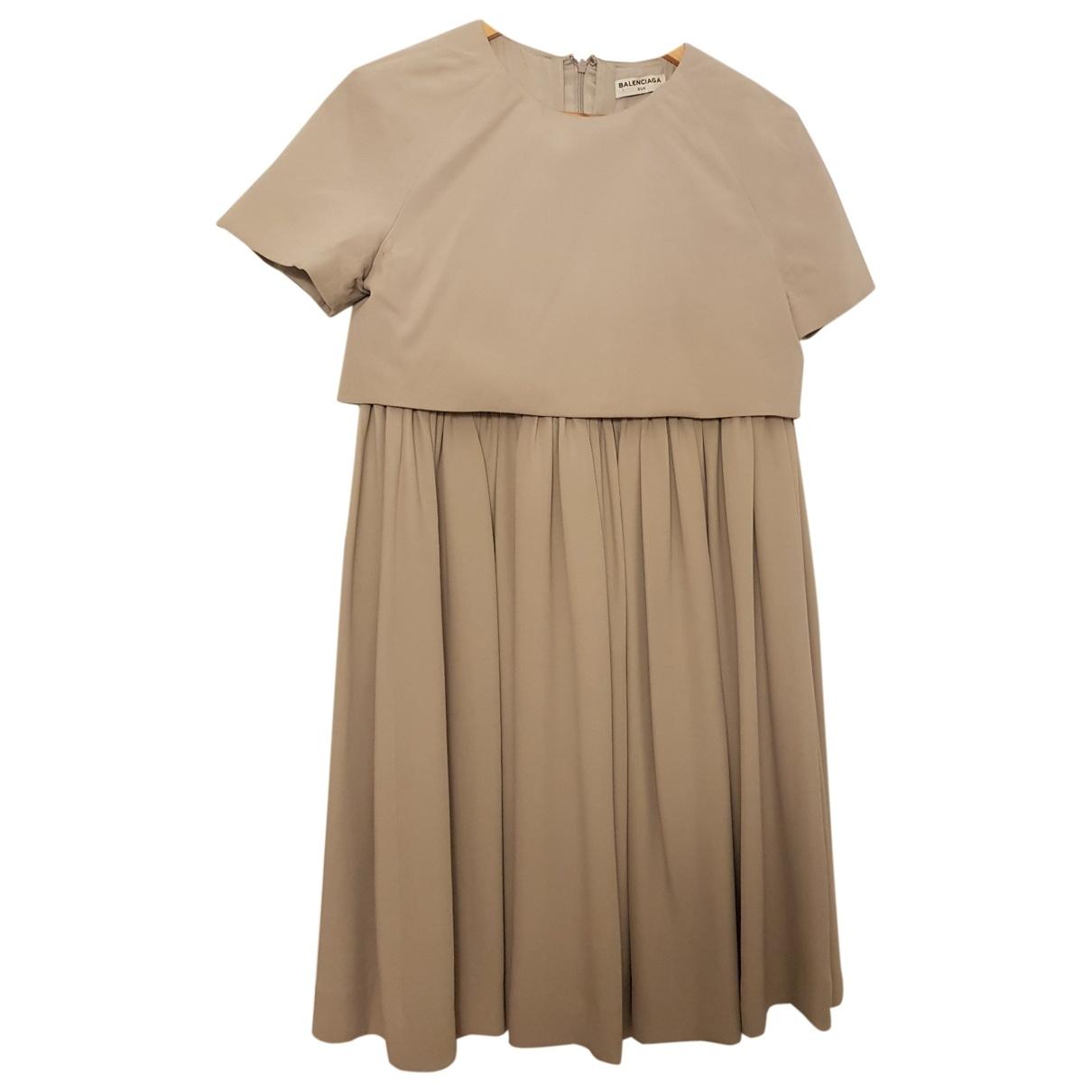 Balenciaga \N Grey Silk dress for Women 38 FR
