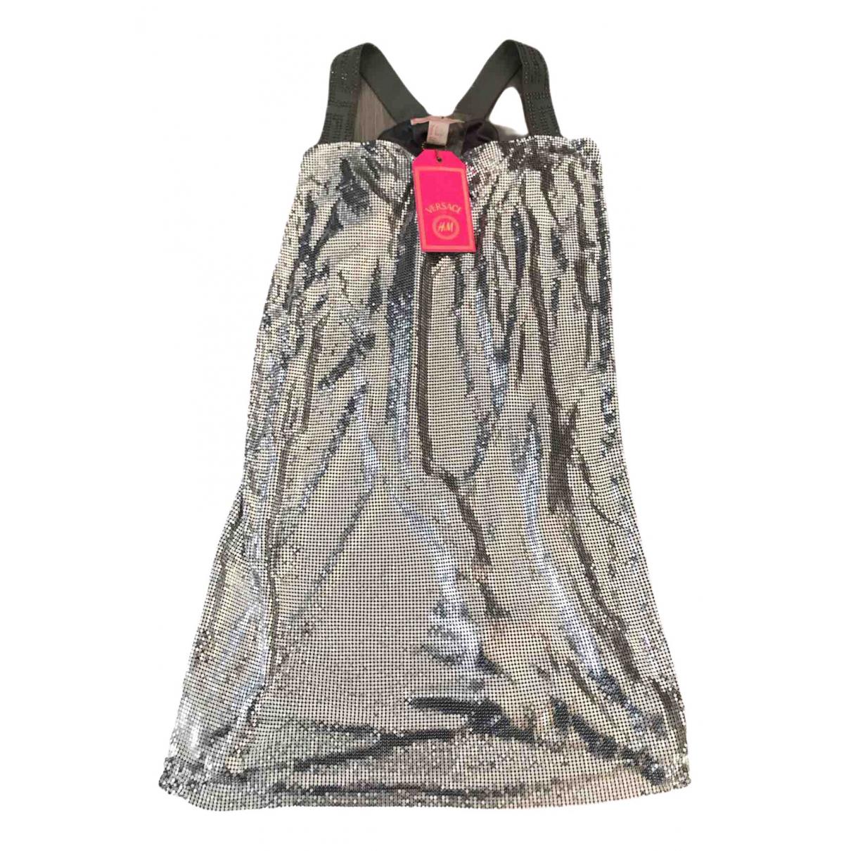 Versace X H&m - Robe   pour femme en a paillettes - argente