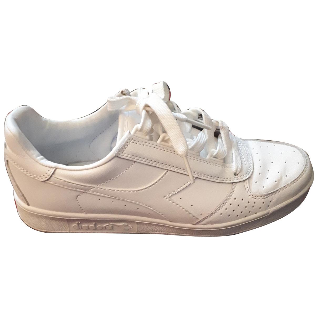 Diadora - Baskets   pour femme en cuir - blanc
