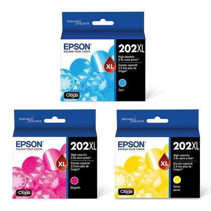 Epson 202XL T202XL-BCS Original Ink Cartridge Combo High Yield C/M/Y
