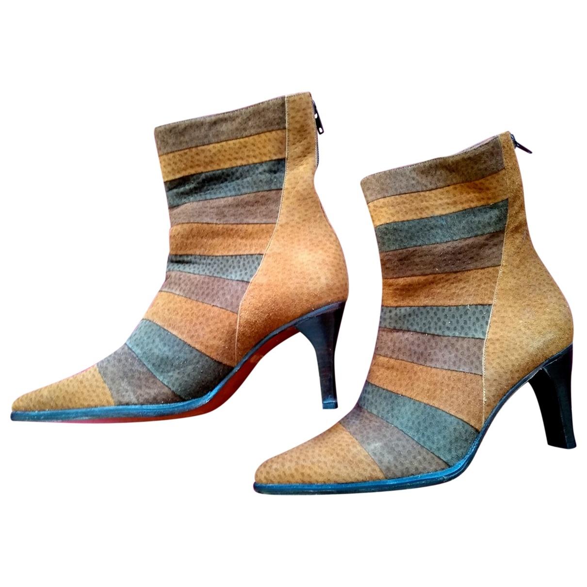 Gianni Chiarini - Boots   pour femme en suede - marron