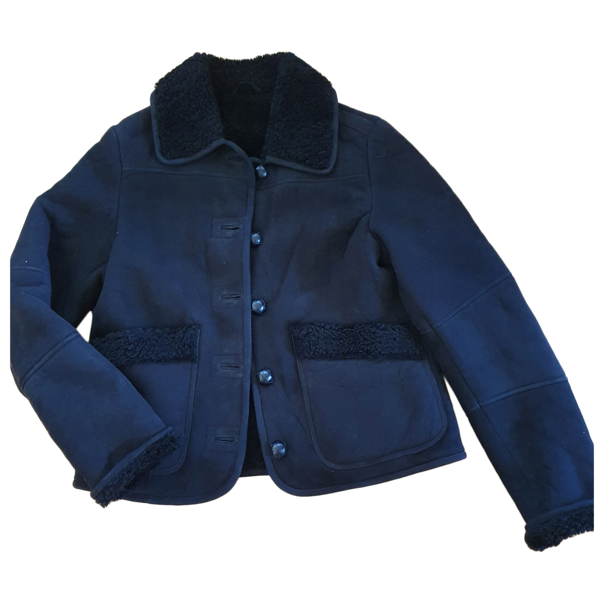 Urban Outfitters - Blouson   pour femme en cuir - noir