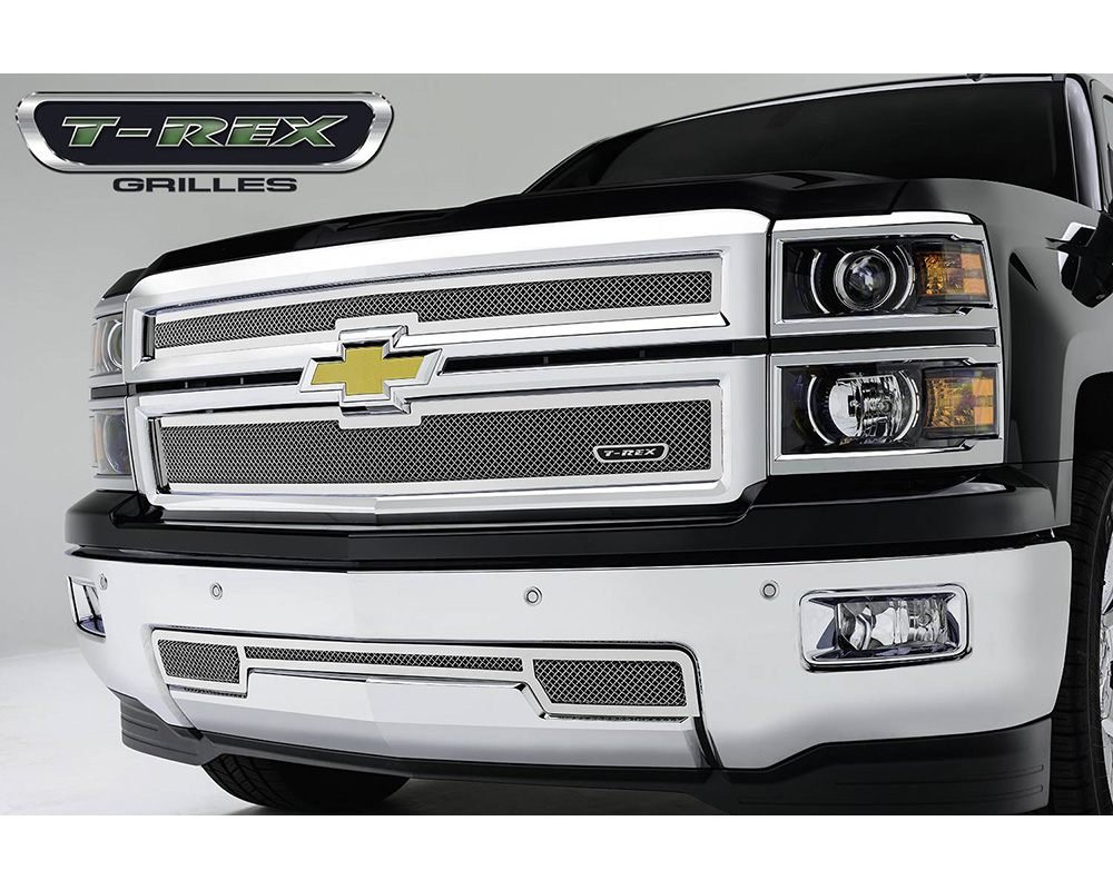 2014-2015 Silverado 1500 Upper Class Grille, Polished, 2 Pc, Replacement - PN #54121