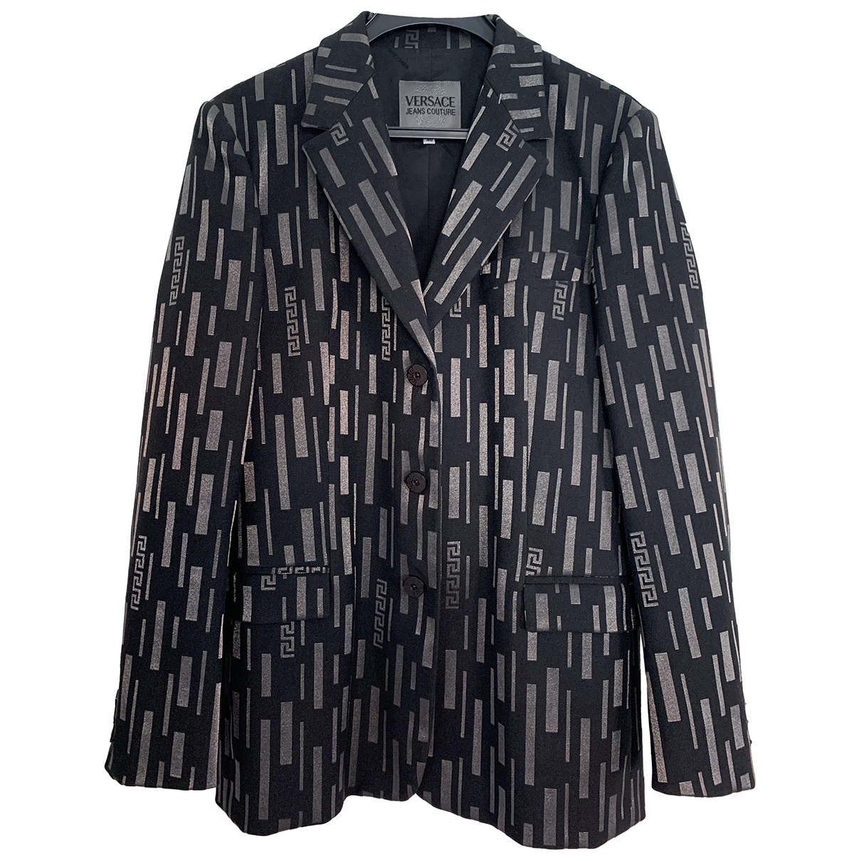Versace Jeans N Black Cotton jacket for Women 12 UK