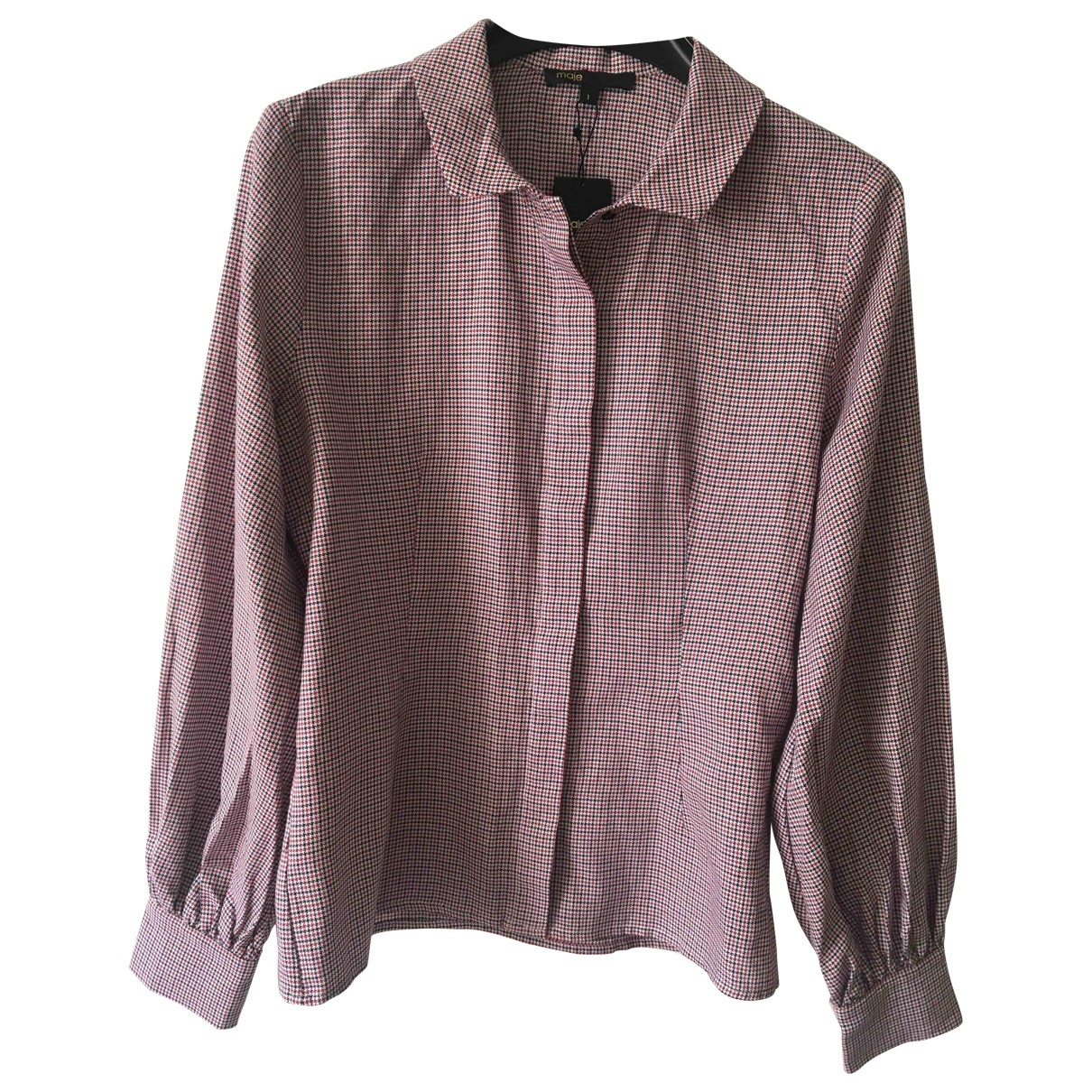 Maje \N Top in  Bordeauxrot Polyester