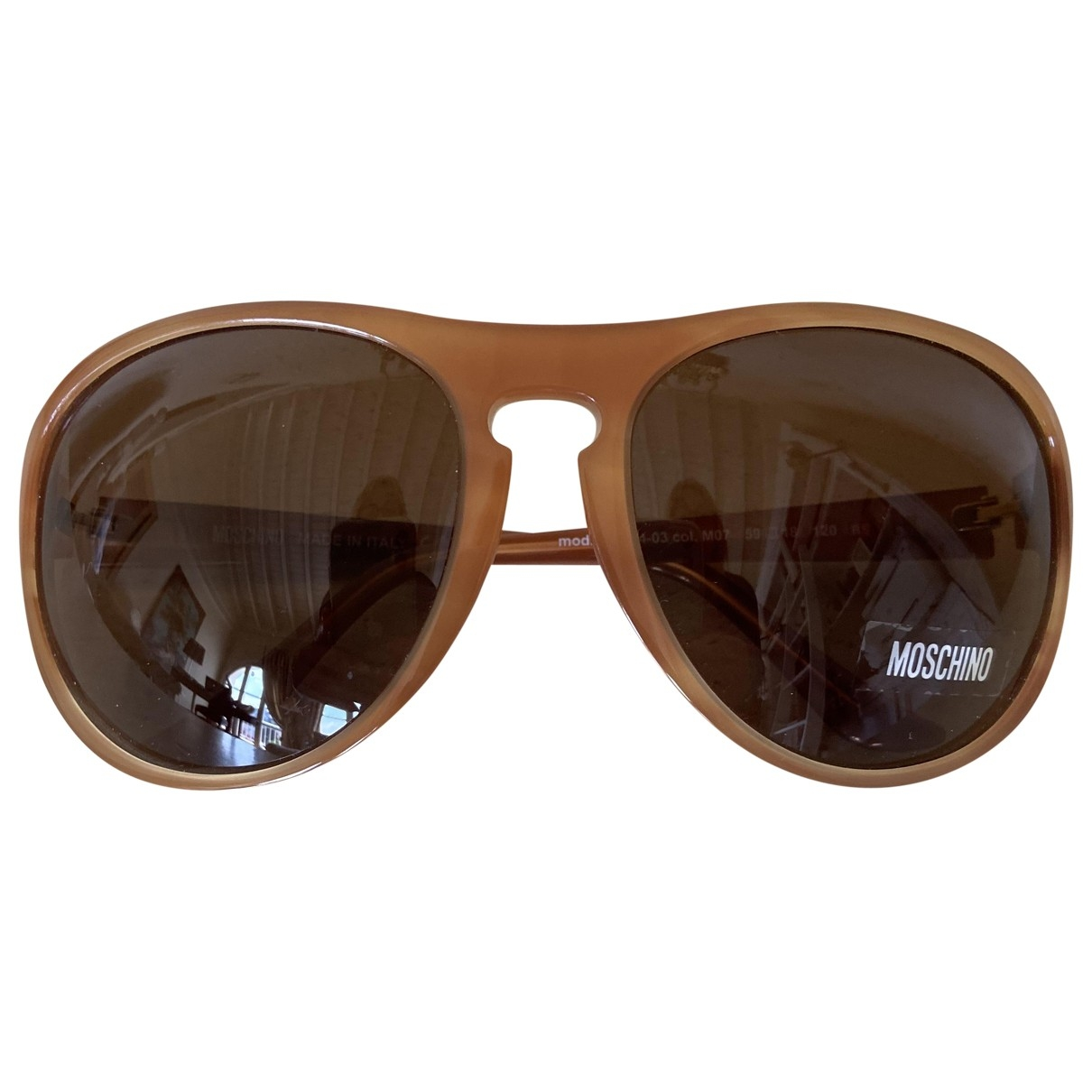 Moschino - Lunettes   pour femme - camel