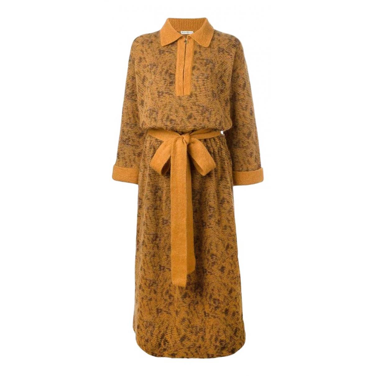 Yves Saint Laurent \N Kleid in  Gelb Wolle