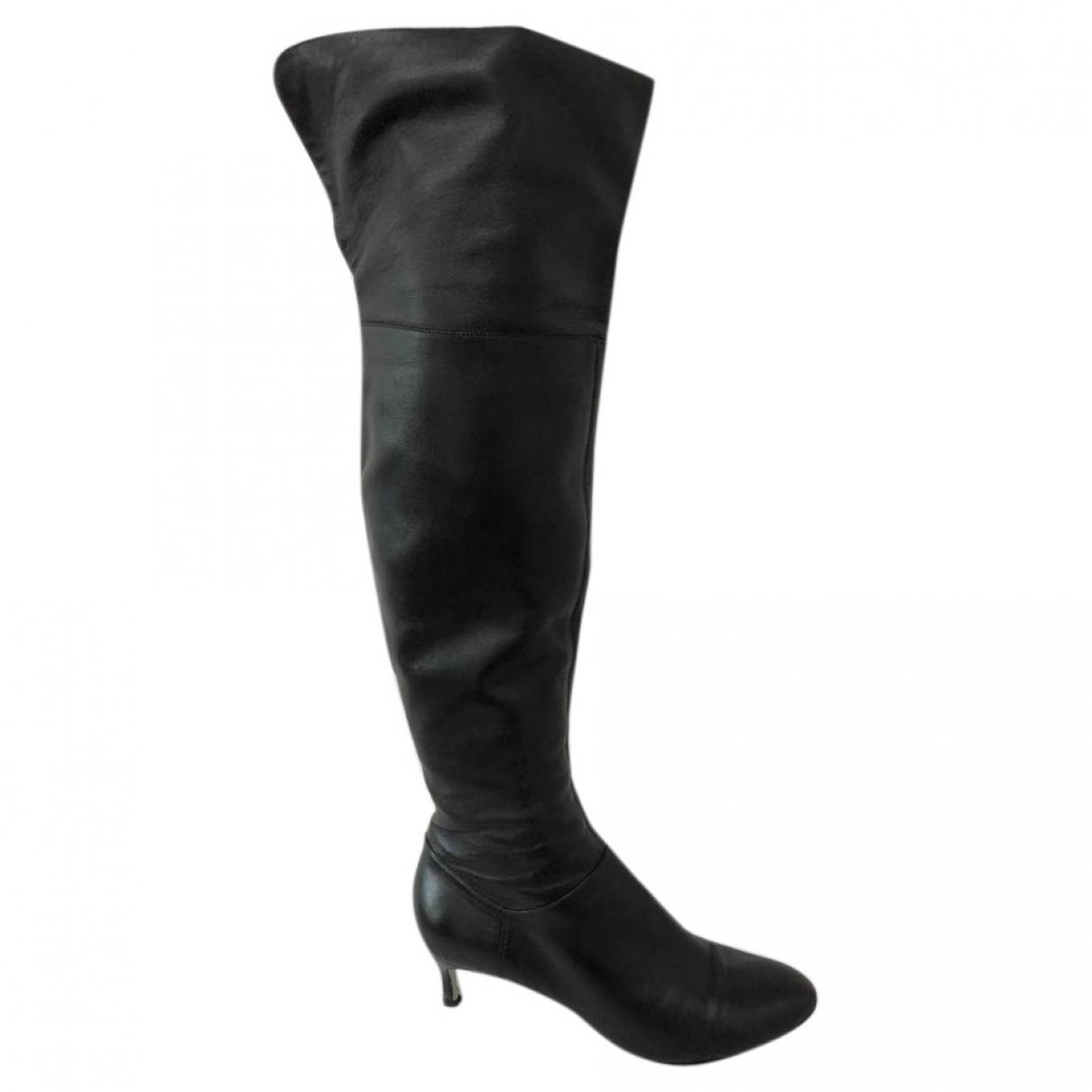 Sergio Rossi - Bottes   pour femme en cuir - noir