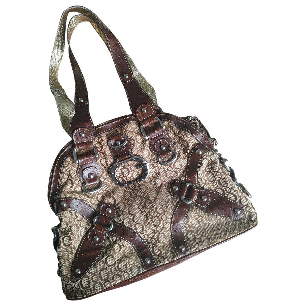 Guess \N Brown Cloth handbag for Women \N