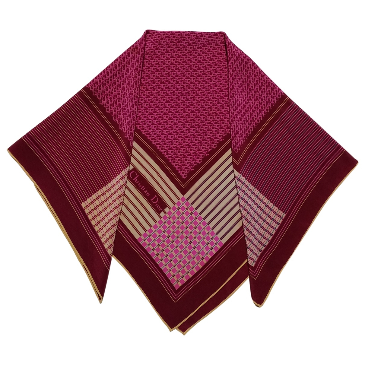 Dior - Foulard   pour femme en soie - violet