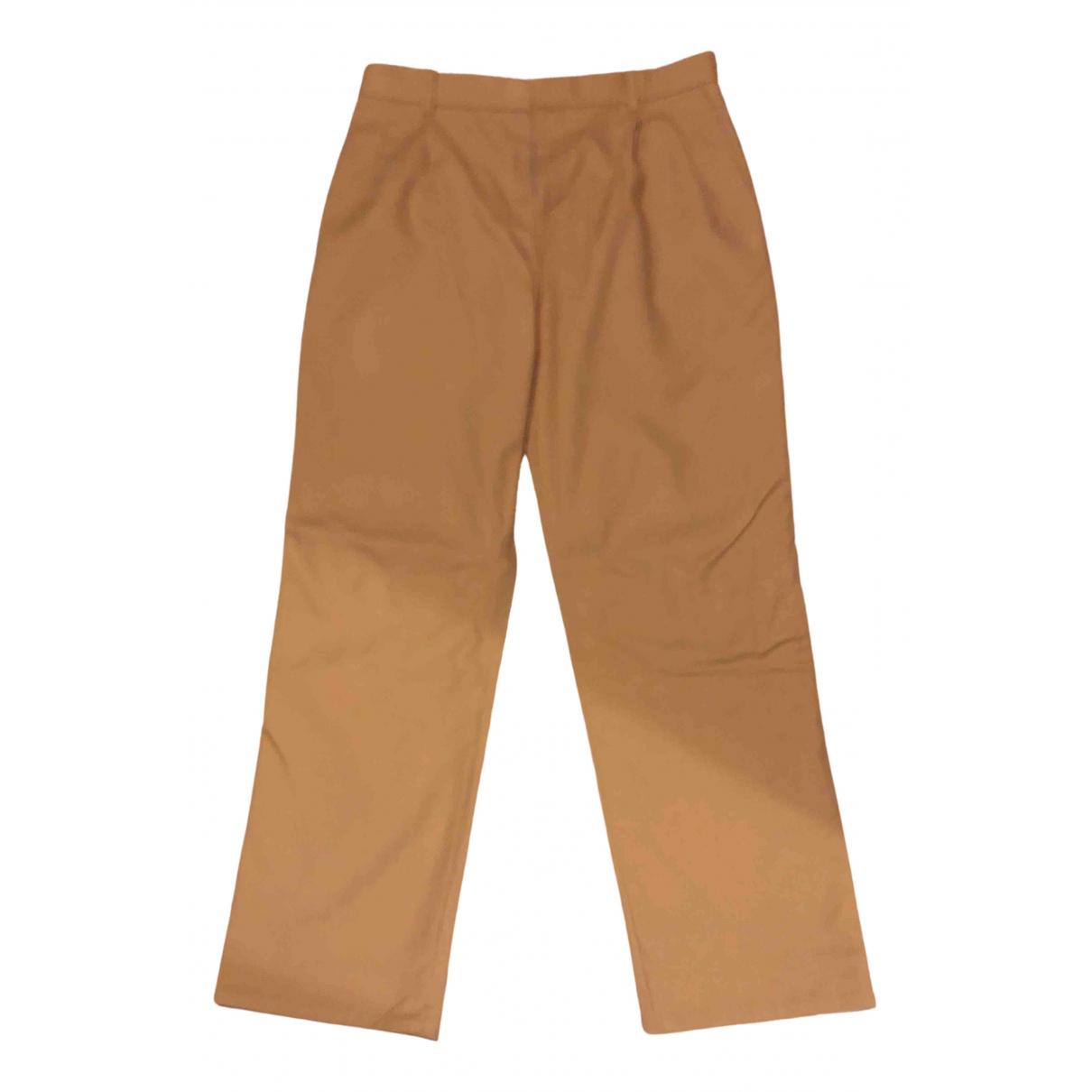 Calvin Klein 205w39nyc N Beige Cotton Trousers for Men 48 IT