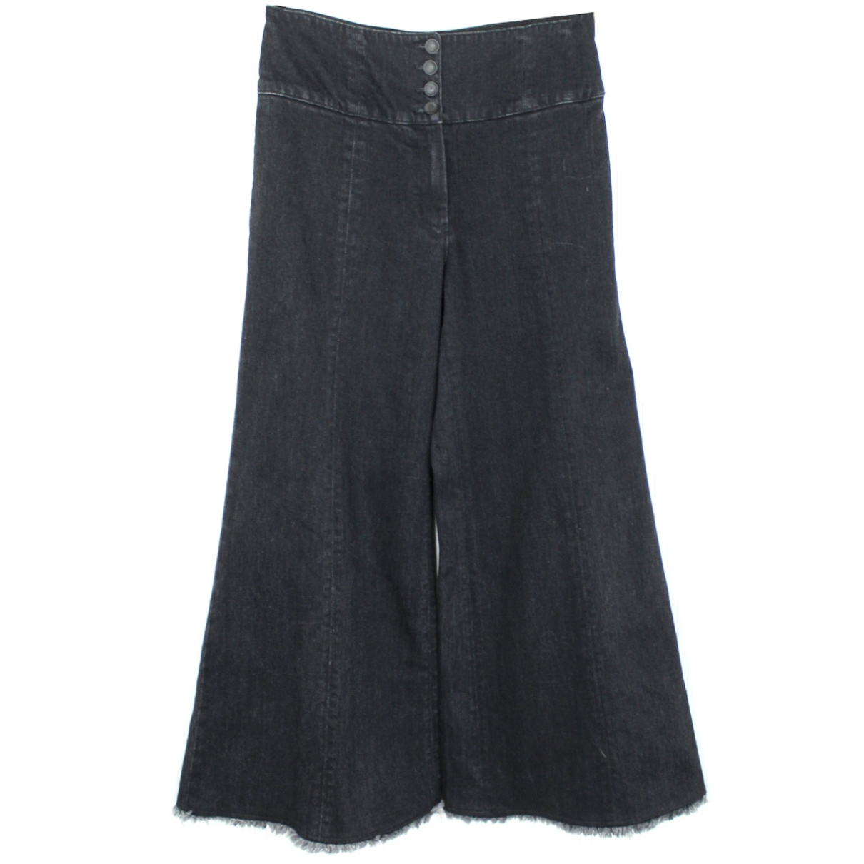 Chanel \N Black Denim - Jeans Jeans for Women 44 FR