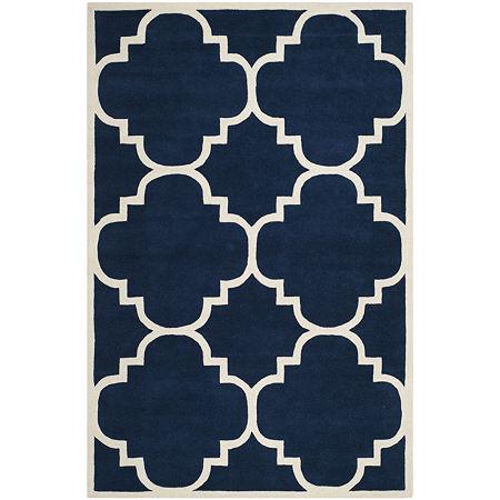 Safavieh Lucina Geometric Hand Tufted Wool Rug, One Size , Blue
