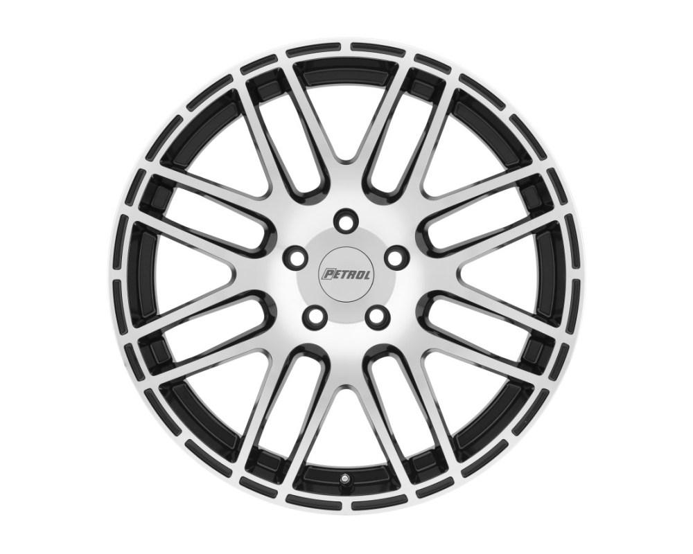 Petrol 1775P6A405105B72 P6A Wheel 17x7.5 5x105.00 40mm Gloss Black w/Machine Cut Face
