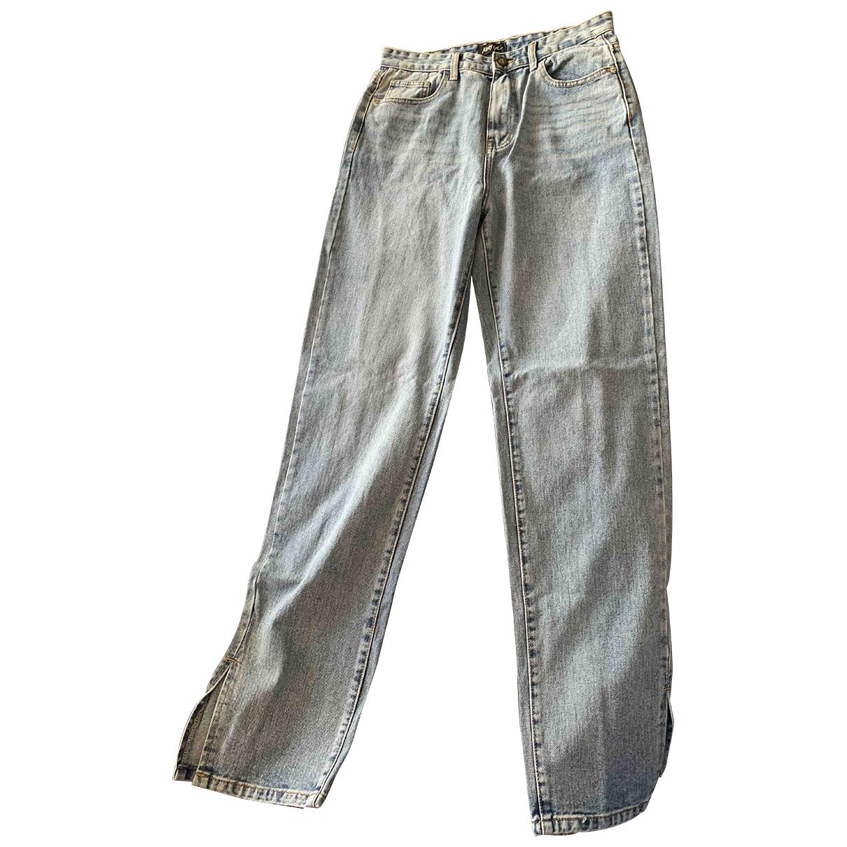 Nasty Gal \N Blue Denim - Jeans Trousers for Women 40 FR