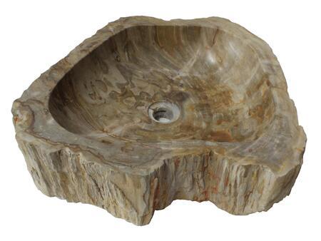 EB_S028PW-P Natural Stone Vessel Sink - Petrified