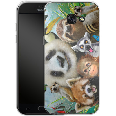 Samsung Galaxy A5 (2017) Silikon Handyhuelle - Zoo Selfie von Howard Robinson
