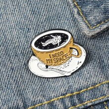 Coffee Cup Design Brooch