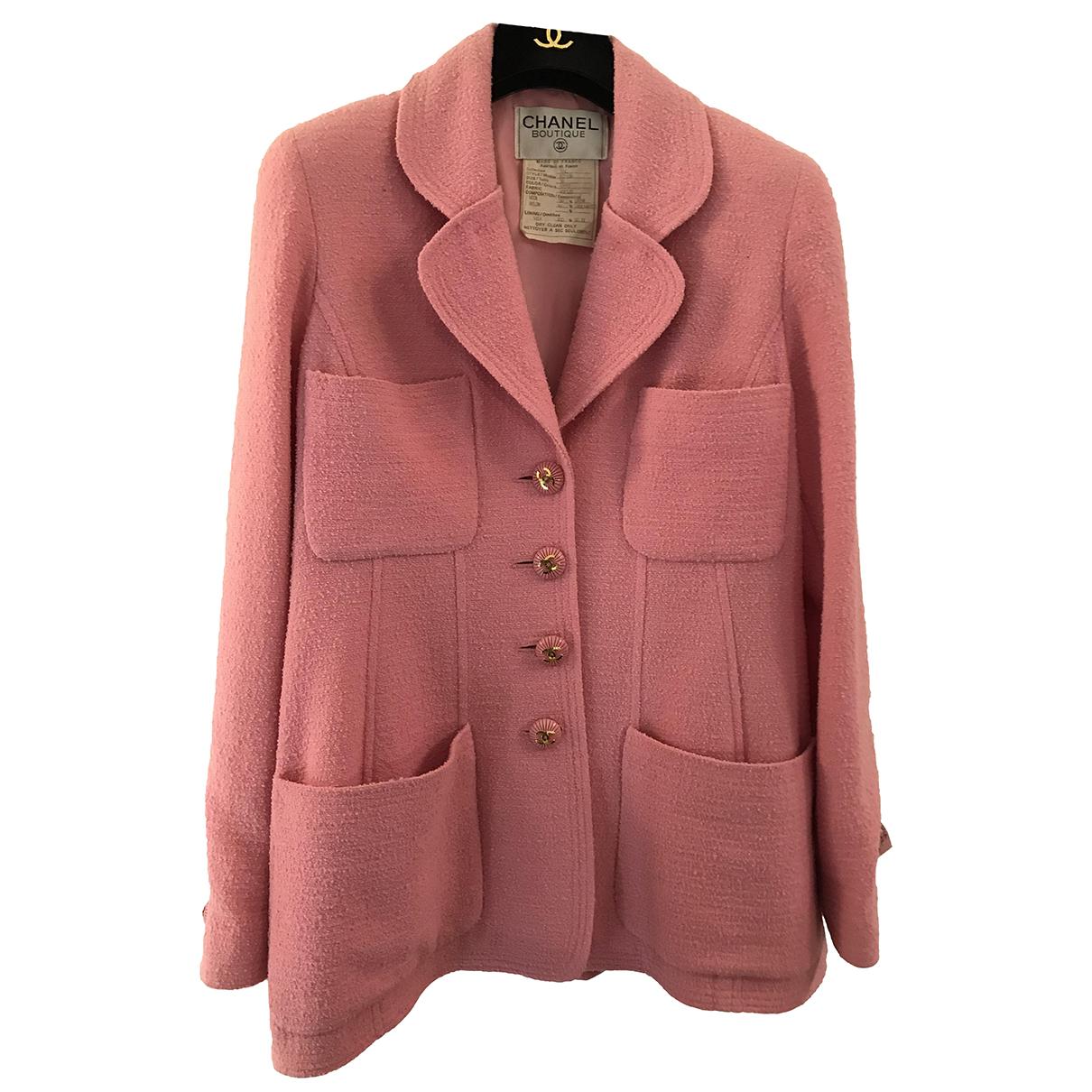 Chanel N Pink Wool jacket for Women 38 FR