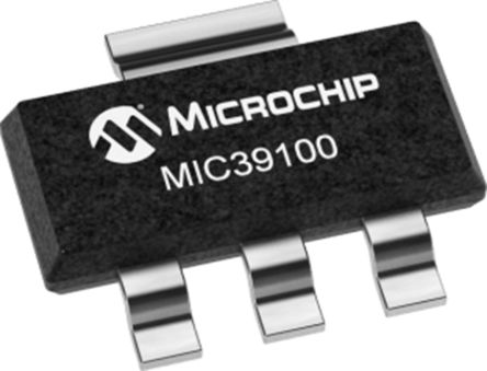 Microchip MIC39100-1.8WS, LDO Regulator, 1A, 1.8 V, ±2% 3 + Tab-Pin, SOT-223 (78)