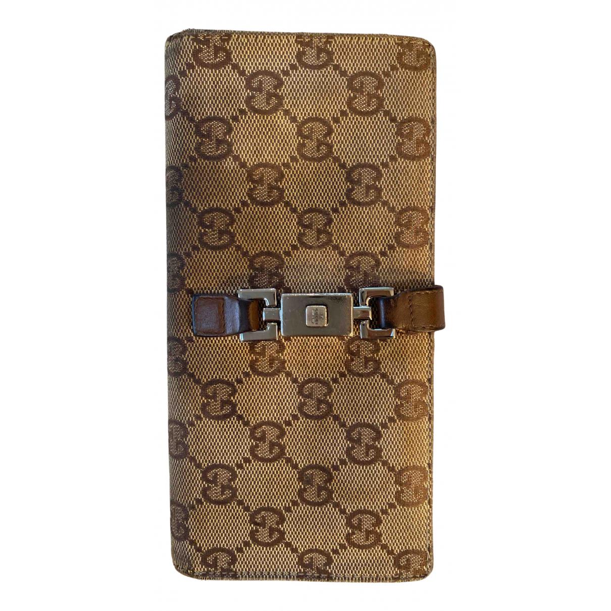 Gucci N Beige Cotton wallet for Women N