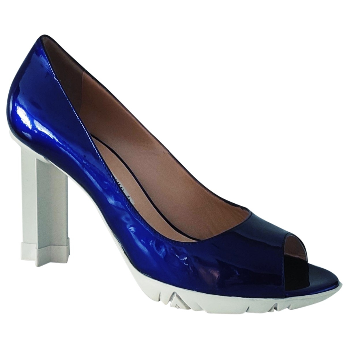 Luciano Padovan \N Blue Patent leather Heels for Women 40 EU