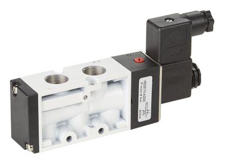 RS PRO Pneumatic Control Valve Solenoid/Spring G 1/4 V51 Series