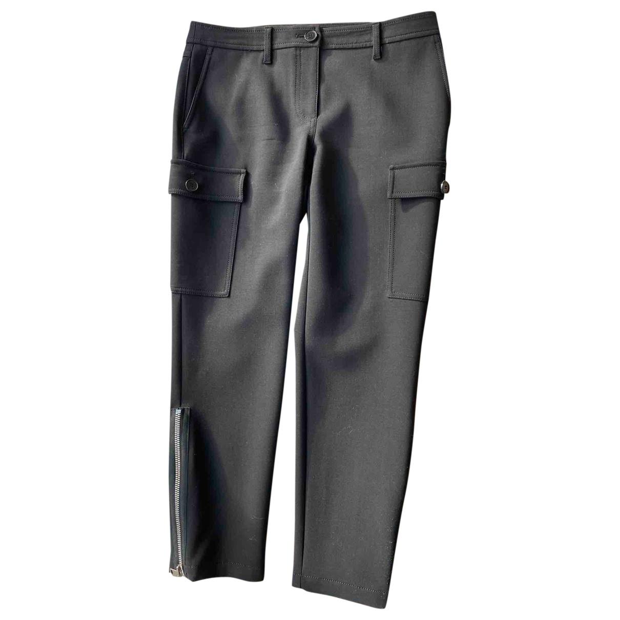 Alexander Mcqueen - Pantalon   pour femme en laine - noir