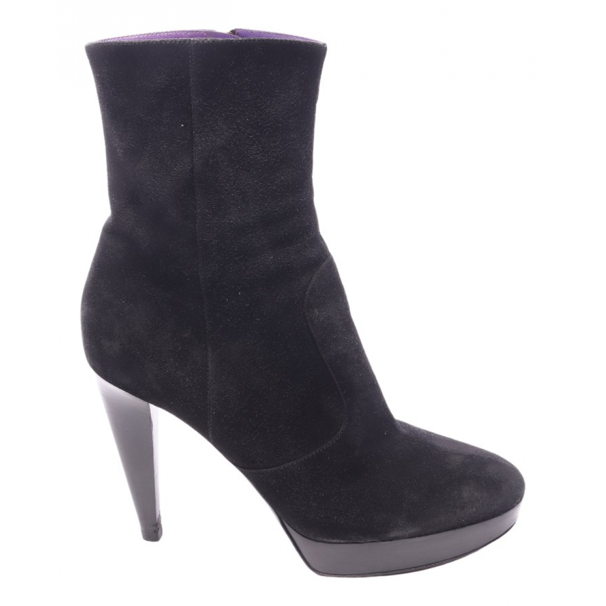 Sergio Rossi \N Black Leather Ankle boots for Women 39.5 EU