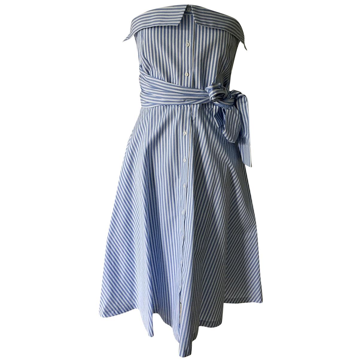 Claudie Pierlot \N Blue Cotton dress for Women 40 FR