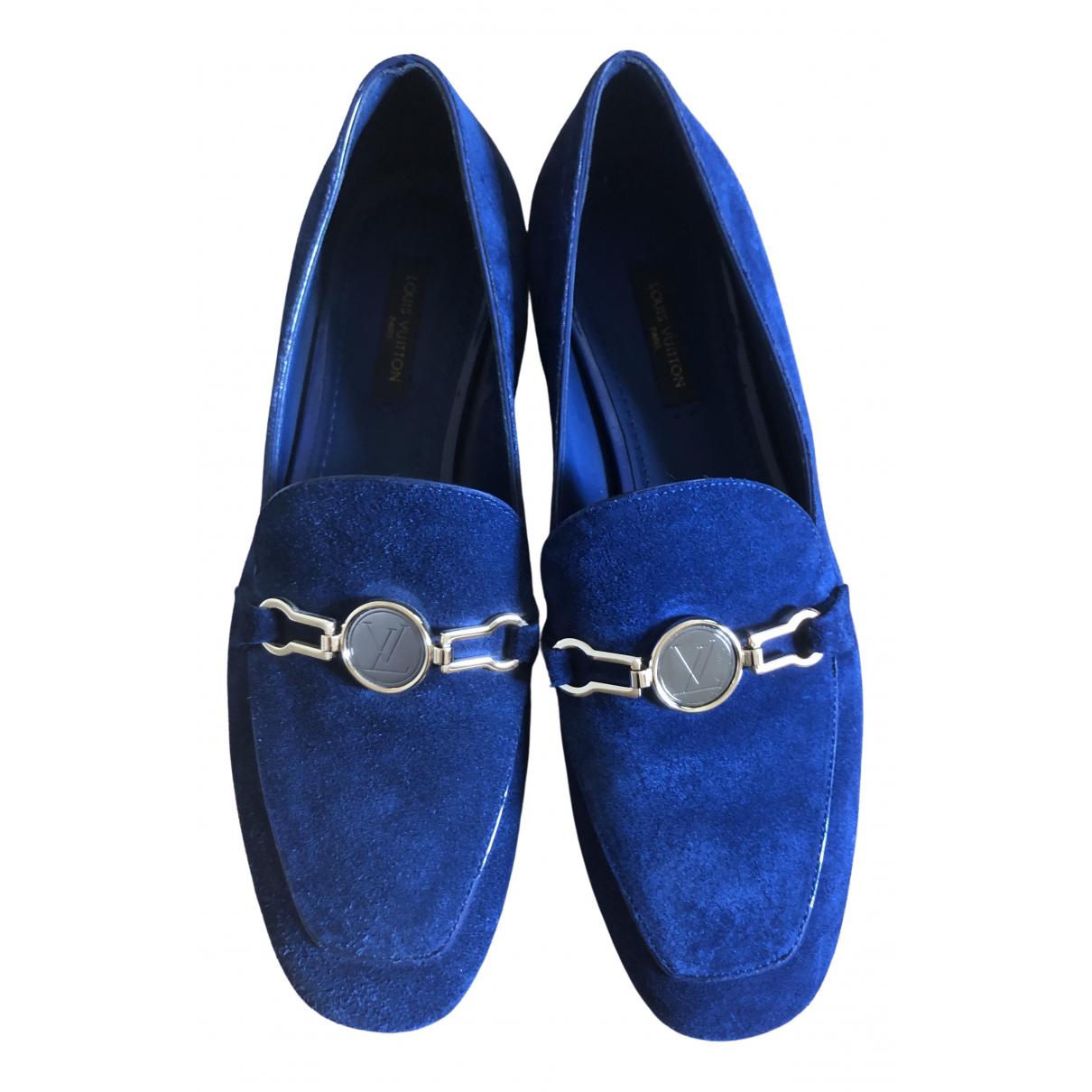 Louis Vuitton \N Blue Suede Flats for Women 36 EU