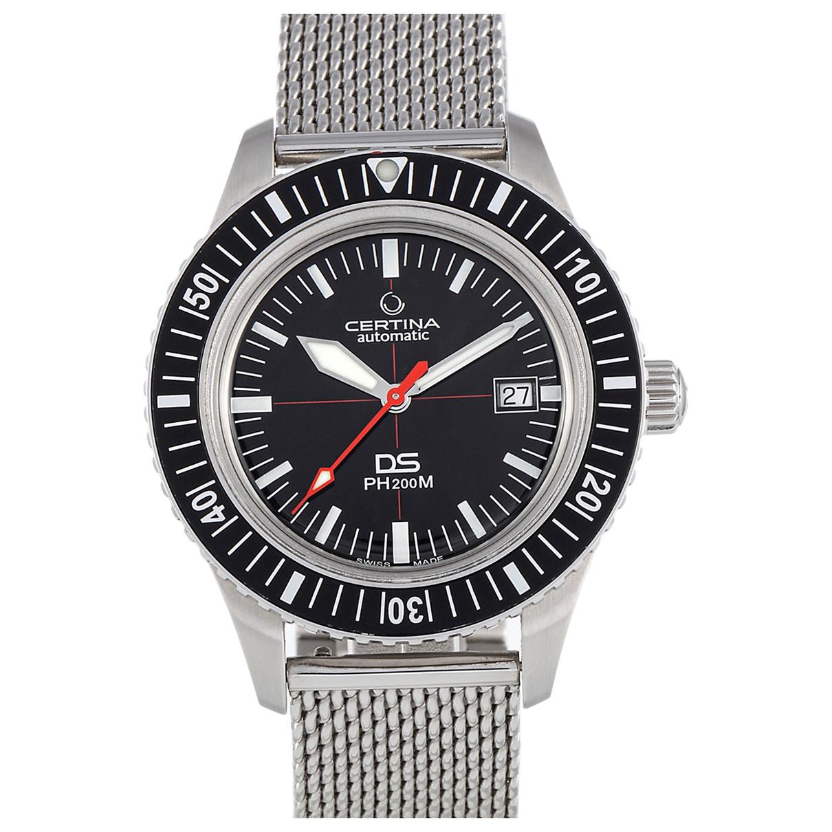 Certina \N Uhr in  Schwarz Stahl