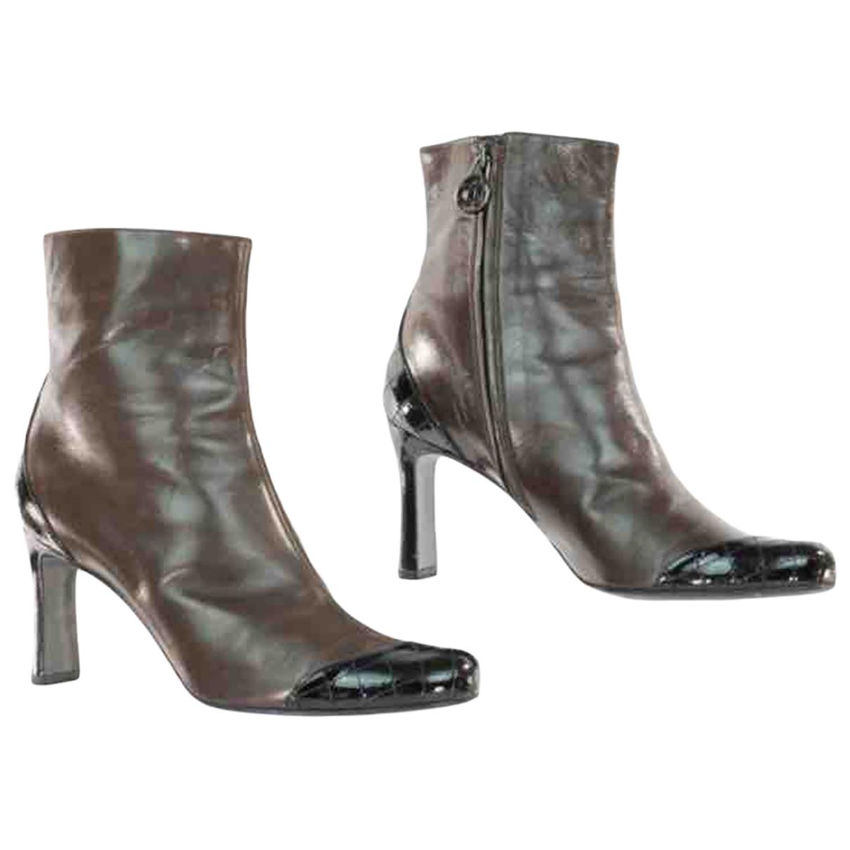 Chanel - Boots   pour femme en cuir
